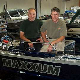 Brothers Lloyd and Stacy Slonecker, founders of Maxxum Marine